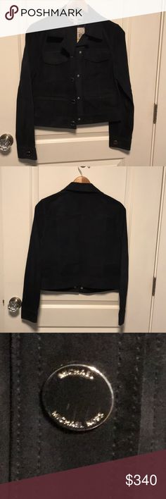 Michael Kors Jacket Brand new. Suede jacket with silver hardware. Mint condition. The Tag has dye from jacket. Michael Kors Jackets & Coats Jean Jackets