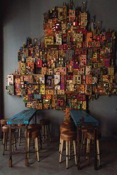 Cardboard Sculpture, Cardboard Art, Sculpture Art, Origami Paper Art, Little Houses, Small Houses, Les Themes, Driftwood Crafts, Art Plastique