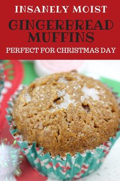 If you are looking for easy breakfast muffins, look no further than these simple muffin treats! Moist, delicious and perfect for any breakfast! # Baking muffins Gingerbread Muffins - Christmas Morning Breakfast Muffins Made Simple Cooking With Kids Easy, Easy Snacks For Kids, Easy Breakfast Muffins, Mini Muffins, Breakfast Ideas, Breakfast Recipes, Instant Pot, Homemade Muffins, Homemade Breads