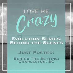 Want to know the whats and what nots of the contemporary romance Love Me Crazy by Camden Leigh? Access Week 4 of the Evolution Series: Behind the Scenes of Love Me Crazy and read why Charleston, SC was chosen for the setting. The series contains never before seen cut scenes, character studies and why certain elements were chosen for Cassidy & Quinn's new adult southern love story. This book is available for download at Amazon http://amzn.to/2d29glZ  Available on audible.