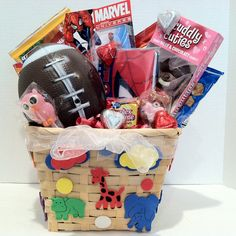 Kids Gift Basket Kids Gift Baskets, Kids Crafts, Gifts For Kids, Unique Gifts, Teen, Gift Ideas, Handmade, Presents For Kids, Gift Baskets For Kids