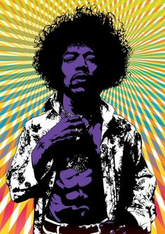Jimmy Hendrix, The king of the sixties music scene.