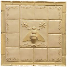 ≗ The Bee's Reverie ≗ Napoleonic Bee Deco - Ceramic Tile (Fantasia Stone) I Love Bees, Birds And The Bees, Bee Images, Buzzy Bee, Bee Art, Bee Theme, Save The Bees, Bee Happy, Bees Knees
