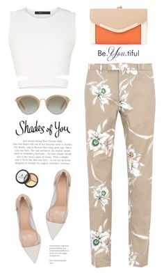 """Shades of You: Sunglass Hut Contest Entry"" by yexyka ❤ liked on Polyvore featuring Valentino, BCBGMAXAZRIA, Gianvito Rossi, New Look, Miu Miu, Borghese and shadesofyou"