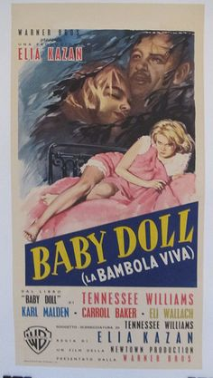 Baby Doll, Italian Locandina (13x28in), 1957, Linen Backed. Original Vintage Movie Poster
