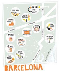 Design Love Fest in Barcelona Travel Maps, Travel Posters, Places To Travel, Barcelona Travel, Barcelona Spain, Barcelona City Map, Visit Barcelona, Voyager Seul, Love Fest