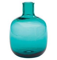 MPeacock Bud Vase Blenko Handblown Glass