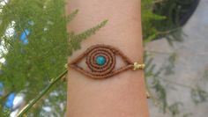 NEW macrame eye bracelet by lulupica on Etsy