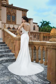 Dramatic and glam open back wedding dress by Sincerity Bridal