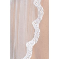 Wedding Belles New York 'Lola' Lace Border Veil (£260) ❤ liked on Polyvore featuring accessories und wedding belles new york