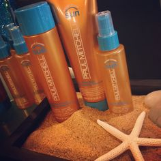 Paul Mitchell Sun features SolarVeil Complex which is a powerful blend of sunflower extract and highly active UV absorbers which shield and protect from UVA and UVB sun rays.