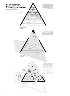 Triangle shaped home plans