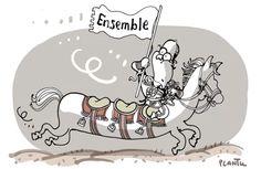 GUERRE CONTRE DAECH: Hollande et ses alliées. Le dessin du Monde de ce lundi 23 novembre.