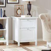 Ackerson 2-Drawer Filing Cabinet White or Espresso $167.99