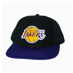 LOS ANGELES LAKERS Retro Old School Snapback Hat - NBA Cap - 2 Tone Black Purple   Amazon.co.uk  Sports   Outdoors 6b24e51d82f