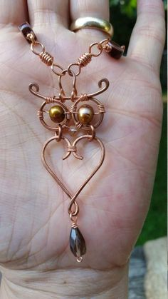 Wire Wrapped Owl Necklace from LC.Pandahall.com