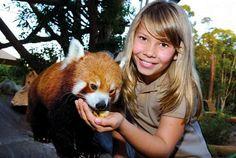 Australia Zoo, Bindi looks so much like her daddy.