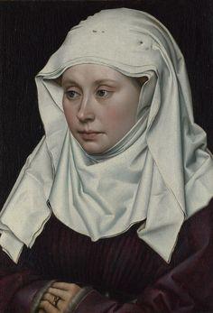 Robert Campin, Ritratto di fanciulla, 1425-1430, olio su tavola, National Gallery, Londra