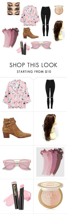 """""""Harry Styles Influenced Summer"""" by sariahjohnson on Polyvore featuring H&M, Topshop, Yves Saint Laurent, Gucci, L.A. Girl and Too Faced Cosmetics"""