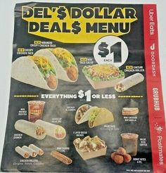 Del Taco Savings Coupon Sheet-New-Expires 11/29/2020 YUMMMMMM... Crispy Chicken, Chicken Tacos, Del Taco, Coupon Codes, Coupons, Menu, Ethnic Recipes, Food, Chicken Flatbread