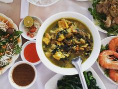 snail soup with banana sauce #vietnamese #food #hanoi