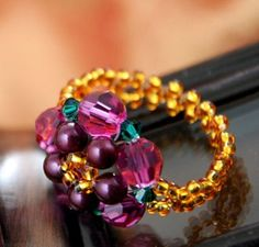 inspiredtomake - Indian Flower Ring