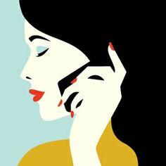 Illustrations by malika favre Art And Illustration, Illustration Design Graphique, Art Graphique, Illustrations And Posters, Malika Fabre, Modern Pop Art, Retro Art, Art Design, Belle Photo