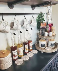 Wine And Coffee Bar, Coffee Bars In Kitchen, Coffee Bar Home, Coffe Bar, Coffee Bar Ideas, Coffee Bar Station, Home Coffee Stations, Tea Station, Coffee Nook