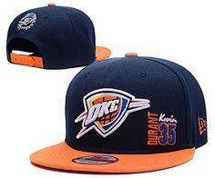 NBA Game Time Closer Stretch Fit 35 Kevin Durant Navy Adjustable Hat Oklahoma City Thunder ** Want additional info? Click on the image.