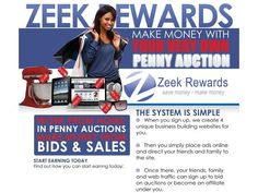 This company shares its profits with you!  Get Up to 95% off laptops, electronics, jewelry, and even cash at Zeekler Penny Auctions with Our Silver Preferred Customer Program at only $10/mo and 20 bids/mo worth $1 each.