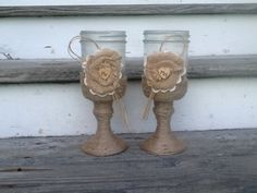 Personalized rustic wedding glasses Mr and Mrs by PineNsign, $32.00