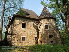 Dwór obronny w Wieruszycach - widok od strony wschodniej Medieval Houses, Medieval Castle, Old Houses, Manor Houses, Small Castles, Abandoned Buildings, Planet Earth, Scenery, Landscape