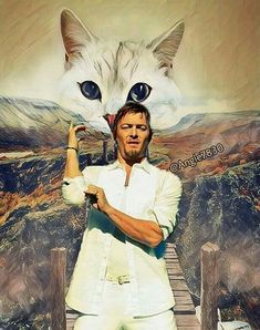 NORMAN AND THE PRETTY KITTY!