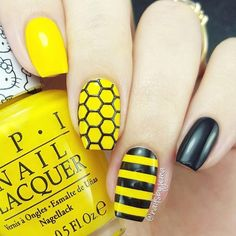 There will be a lot of buzz about your gorgeous nails when you wear these lovely honeycomb nail stencils.