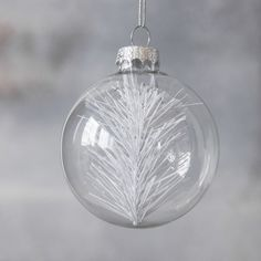 Give your Christmas Tree a touch of winter. A White Christmas tree inside a glass bauble, will bring the outside in. White Christmas, Christmas Bulbs, House Doctor, Christmas Inspiration, Snow, Elegant, Holiday Decor, Design, Classy