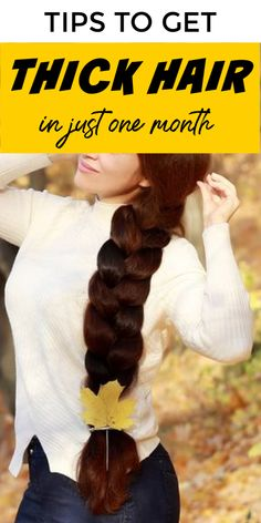 Tips To Get Thick Hair In One Month Time hair haircare selfcare selfcarebeautytips diyhair beautytipsforhair thickhair tipsandtricks longhair stronghair 794463190498503042 Grow Natural Hair Faster, Get Thicker Hair, Longer Hair Faster, Beauty Tips For Hair, Beauty Hacks, How To Get Thick, Hair Growth Tips, Healthy Hair Growth, Hair Care Tips