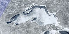 Lake Superior - Almost completely frozen over. I prefer the lake in the summer... Minnesota Love <3