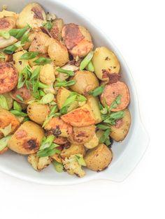 Garlic Roasted Potatoes and Cauliflower - The Lemon Bowl
