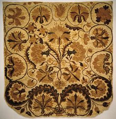 """Bed rugs (referred to as """"ruggs"""" during the late eighteenth century) are completely home-manufactured products. The wool yarn pile is needleworked (not hooked, as was once assumed) in running stitch on a base of handloomed wool or linen"""