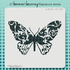 donna downey signature stencils - butterfly