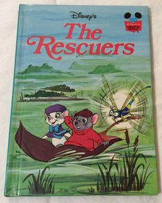 Vintage 1977 Disney's The Rescuers hardback book by AmeliaBabble, $4.00