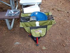 Pictures of Camp Kitchens - Expedition Portal Wash, rinse, & drying rack from REI.