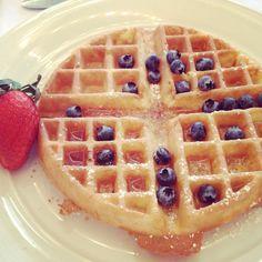 Soft waffles and fruit make a braces friendly meal.