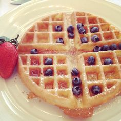 Soft waffles and fruit make a braces friendly meal.