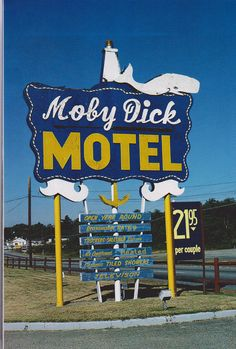 Moby Dick Motel Dartmouth. Perhaps this should be a road trip in The Library Store #OnWheels.