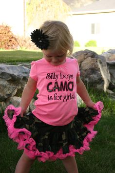 Love everything about this outfit <3                           Ari's Angels Daddy's Girl Camo Applique Shirt and by ArisAngels, $70.00