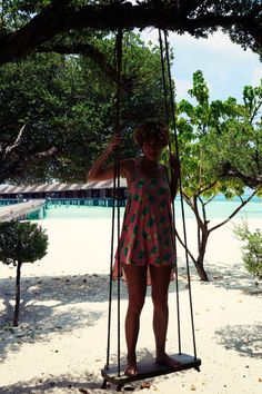 With the #Wildfox  #pineapple  #Dress in front of the #watervillas at #lux #maldives!
