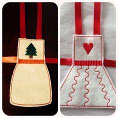 Elf on the Shelf felt apron  clothing by NoniesCustomCreation, $5.50