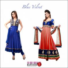 Royal blue anarkali with pita embroidery $138 / Anarkali with antique emboridery $827