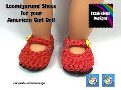 Loomigurumi MaryJane Shoes for American Girl Doll - Amigurumi crochet with Rainbow Loom Ba. Step by step tutorial on how to use Rainbow Loom rubber bands to make shoes for your American Girl Doll with your crochet hook and loomigurumi, amigurumi . Step by Crochet Doll Clothes, Crochet Shoes, Girl Doll Clothes, Cute Crochet, Girl Dolls, Crochet Dolls, Crochet Dresses, Ag Dolls, Irish Crochet